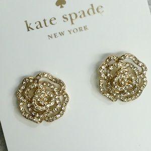 Beautiful NWOT Kate Spade Crystal Rose earrings